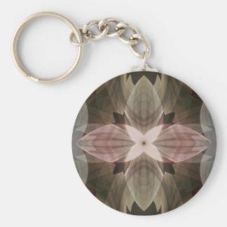 Floral Night Basic Round Button Keychain