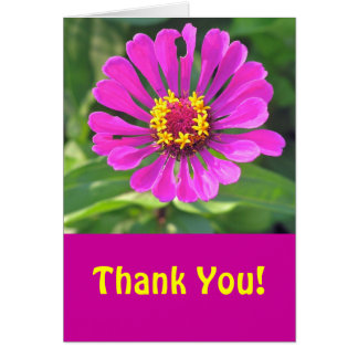 "FLORAL NOTECARD, ""THANK YOU"" CARD"