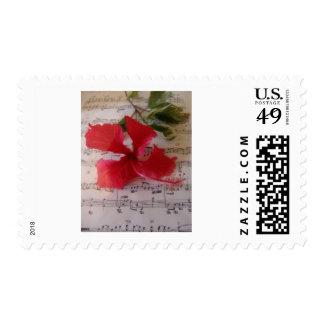 Floral Notes Postage