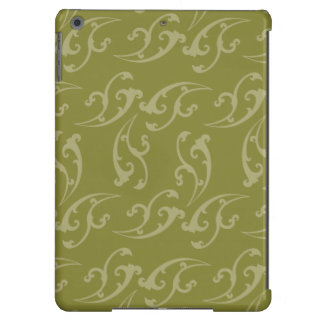 Floral Nouveau army greens iPad Air Cases