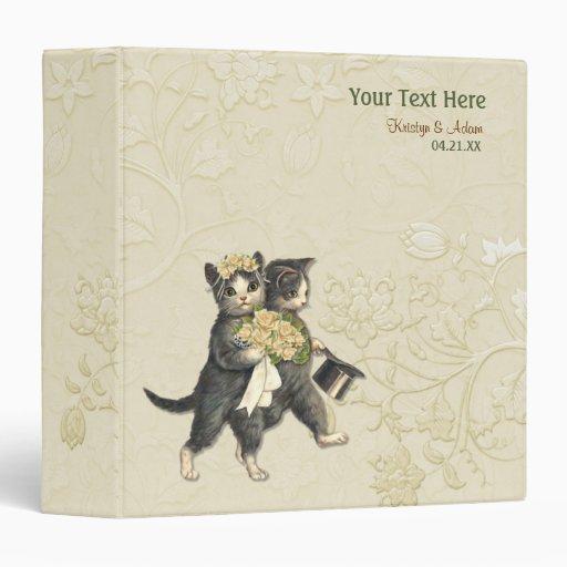Floral nupcial de los gatos del boda - marfil