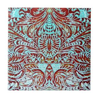 Floral occidental azulejo cuadrado pequeño