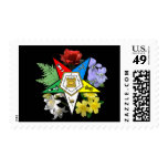 Floral OES postage