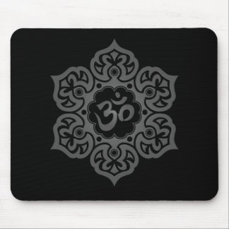 Floral Ohm Design (dark) Mousepad