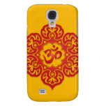 Floral Ohm Design (red & yellow) Galaxy S4 Case