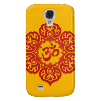 Floral Ohm Design (red & yellow) Samsung Galaxy S4 Covers