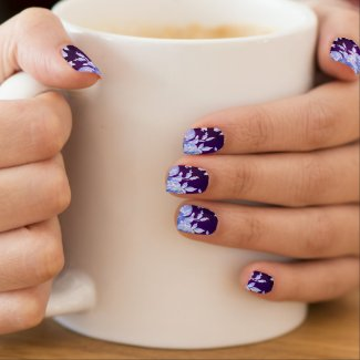 Floral on Dark Purple (trend)   Nail Wrap Decal
