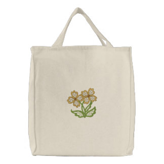 Floral Openwork Embroidered Tote Bag