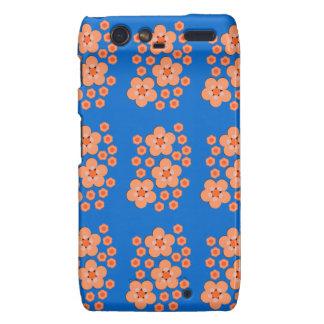 Floral Orange Products Motorola Droid RAZR Cover