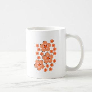 Floral Orange Products Mugs