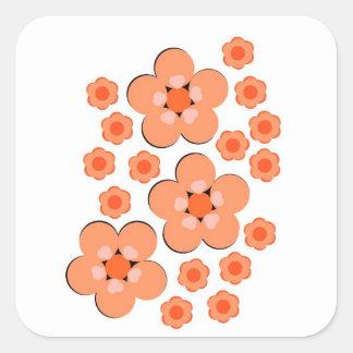 Floral Orange stickers
