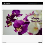 """Floral- Orchid 11"""" MacBook Air Decals"""