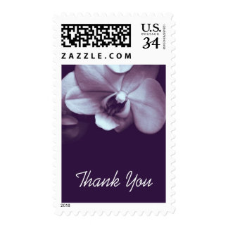 Floral Orchid 2 Sympathy Thank You Postage