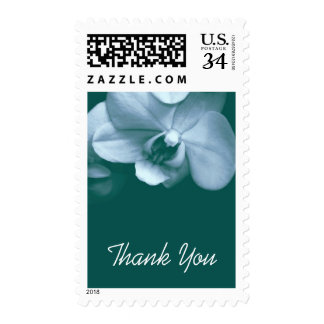 Floral Orchid 4 Sympathy Thank You Postage