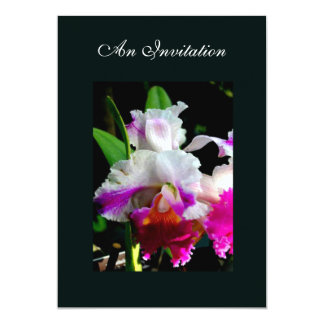 FLORAL ORCHID ENGAGEMENT INVITATION 2