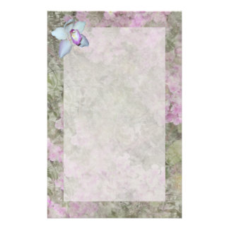 Floral Orchid Stationery