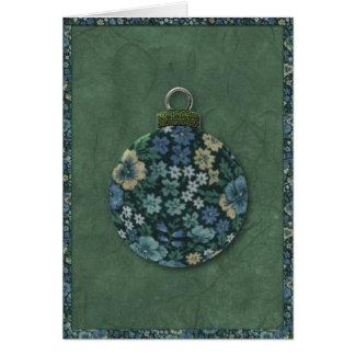 Floral Ornament Christmas Card