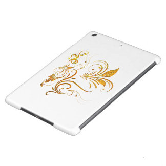 Floral Ornament in Gold Case For iPad Air