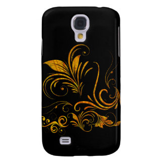 Floral Ornament in Gold Galaxy S4 Covers