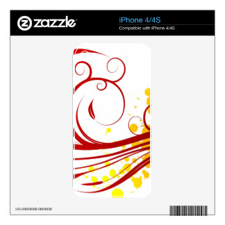 Floral Ornaments Motive iPhone 4 Skin