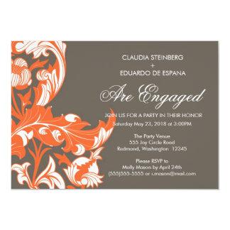 Floral oscuro y con clase elegante - gris oscuro, invitacion personalizada