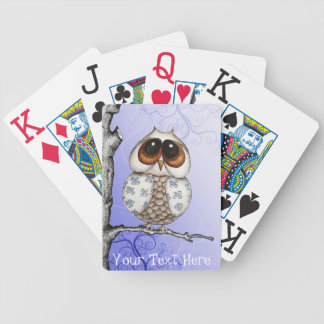 Floral Owl Customizable Playing Cards