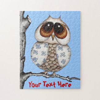 Floral Owl Customizable Puzzle