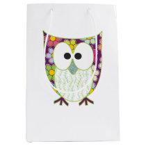 Floral Owl Medium Gift Bag