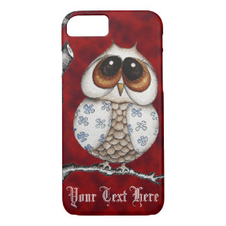 Floral Owl Red iPhone 7 case