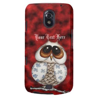 Floral Owl Red Samsung Galaxy Nexus Case