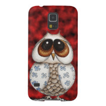 Floral Owl Red Samsung Galaxy S5 Case