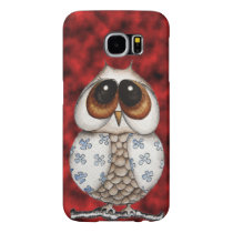 Floral Owl Red Samsung Galaxy S6 Case