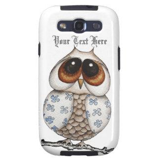 Floral Owl Samsung Galaxy S3 Case