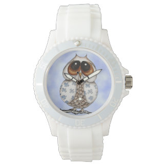 Floral Owl Sporty Watch