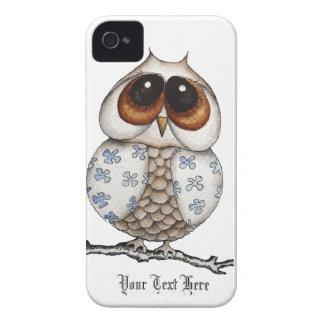 Floral Owl White Blackberry Case