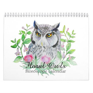 Floral owls Your flower horoscope sign Calendar