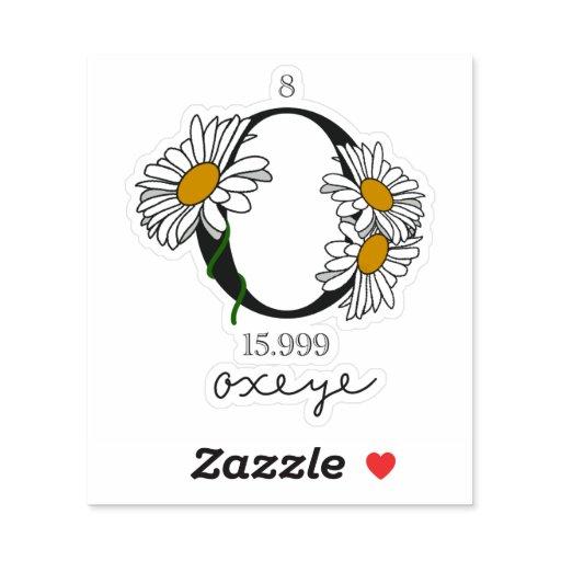 Floral Oxygen Element Sticker