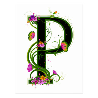 Floral P Post Cards
