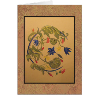 floral painting #1 greeting card