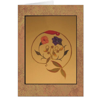 floral painting #2 greeting card