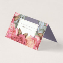 Floral Painting Anniversary Table Place Cards