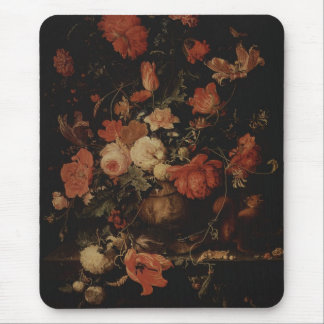 Floral painting by Abraham Mignon Mouse Pad