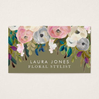 Floral Painting Florist Stylist Business Cards
