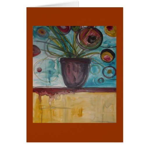 Floral Painting Greeting Card | Zazzle