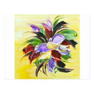floral painting postcard