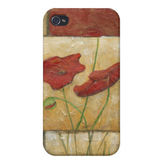 Floral Painting with Visible Brush Strokes Case For iPhone 4