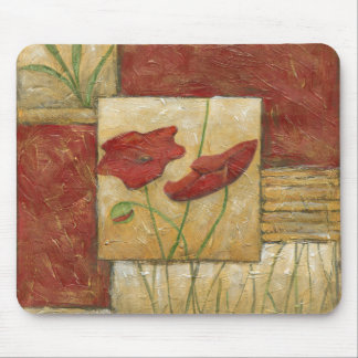 Floral Painting with Visible Brush Strokes Mouse Pad