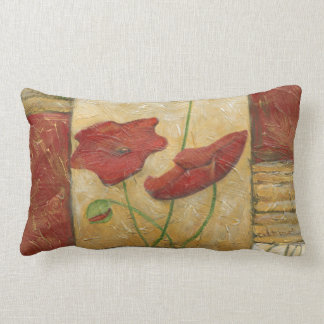 Floral Painting with Visible Brush Strokes Pillow