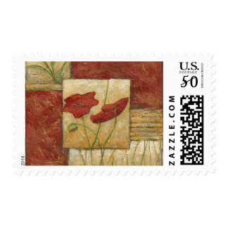 Floral Painting with Visible Brush Strokes Postage