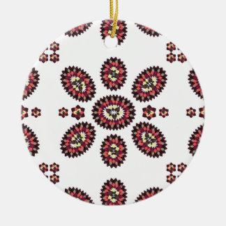 Floral Paisley Argyle Ceramic Ornament